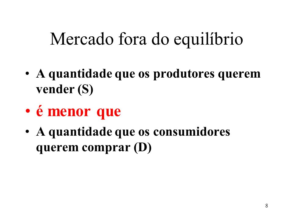 Mercado fora do equilíbrio