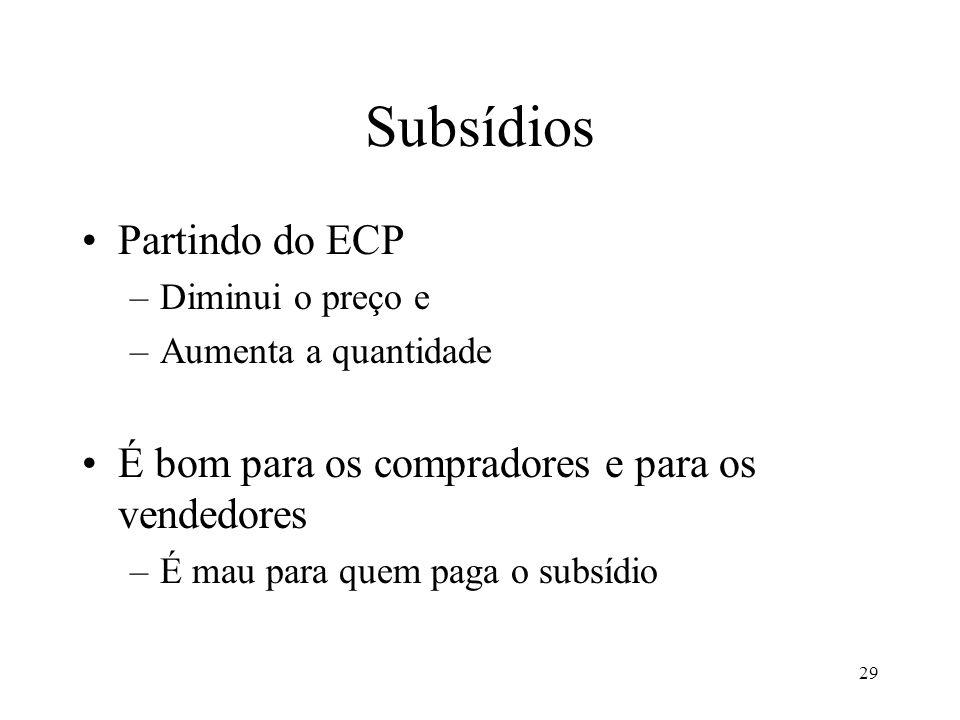 Subsídios Partindo do ECP