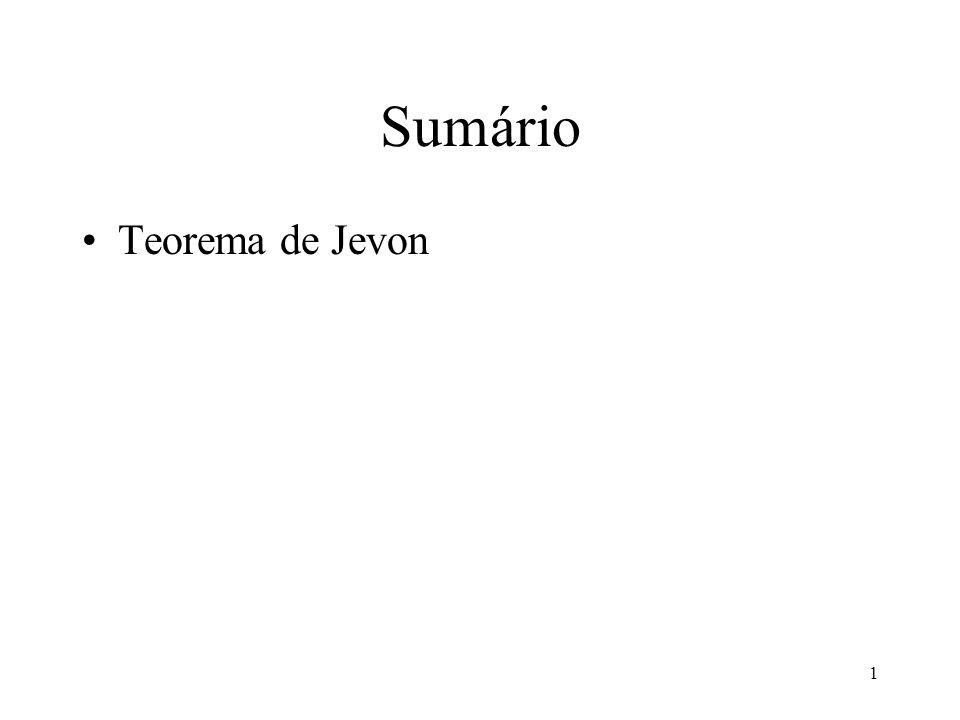 Sumário Teorema de Jevon