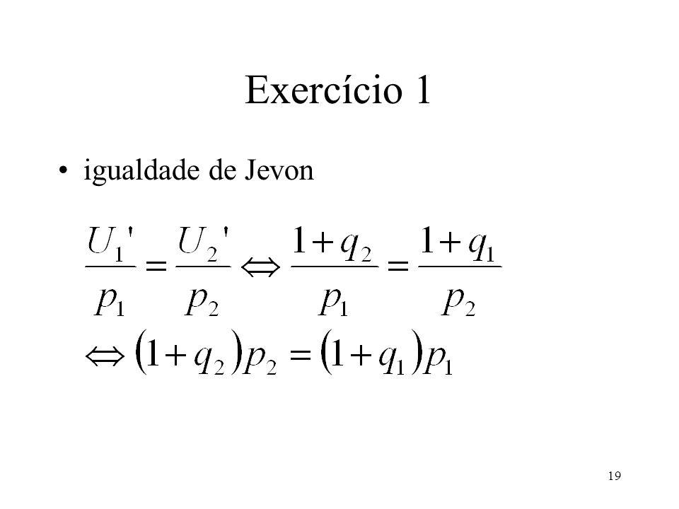 Exercício 1 igualdade de Jevon