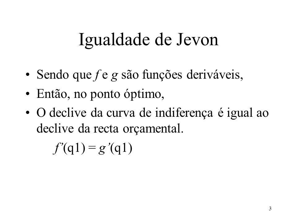 Igualdade de Jevon Sendo que f e g são funções deriváveis,