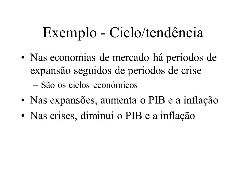 Exemplo - Ciclo/tendência