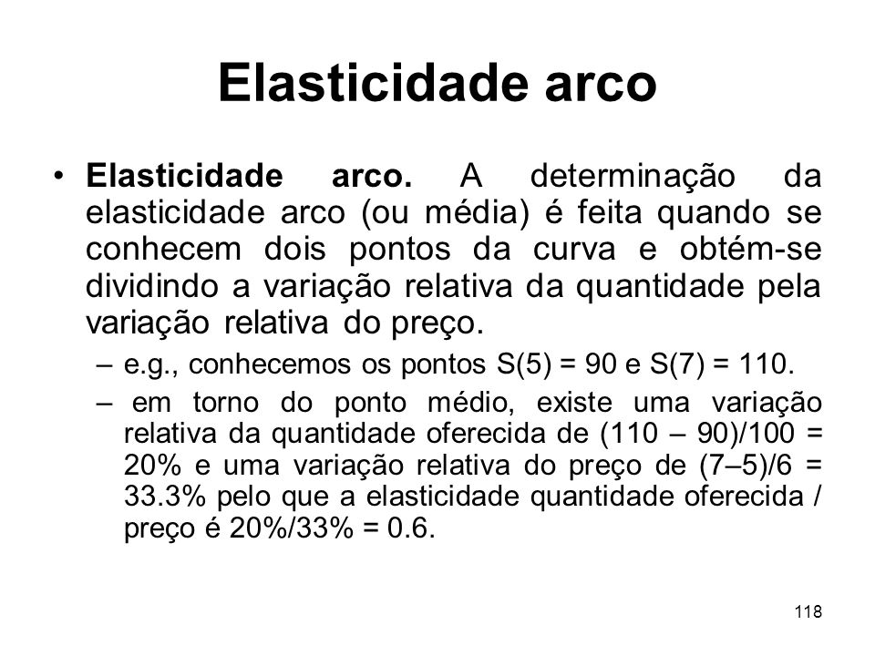 Elasticidade arco