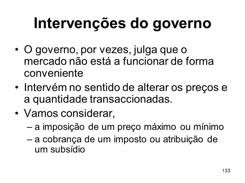 Intervenções do governo