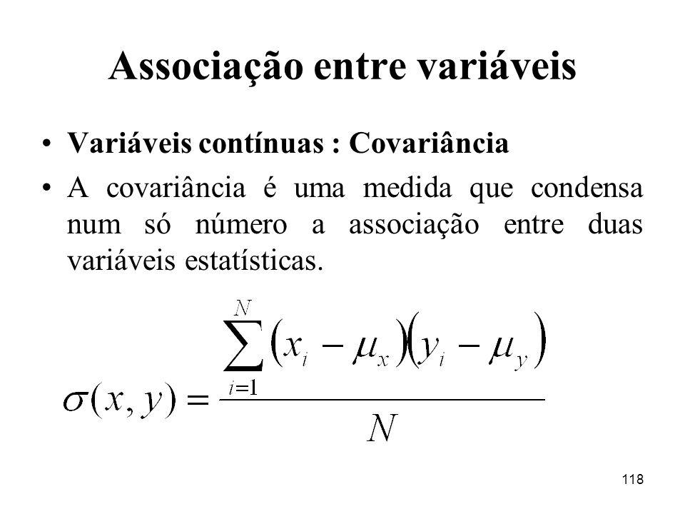 Associação entre variáveis