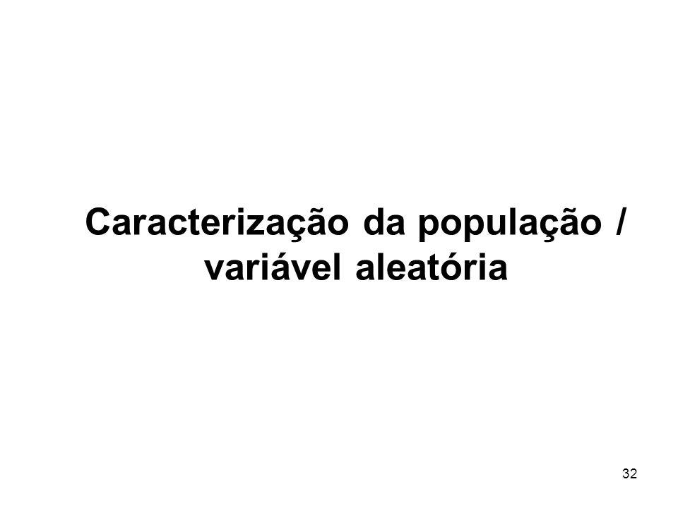 Caracterização da população / variável aleatória