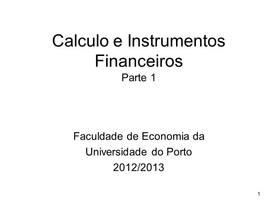 Calculo e Instrumentos Financeiros Parte 1