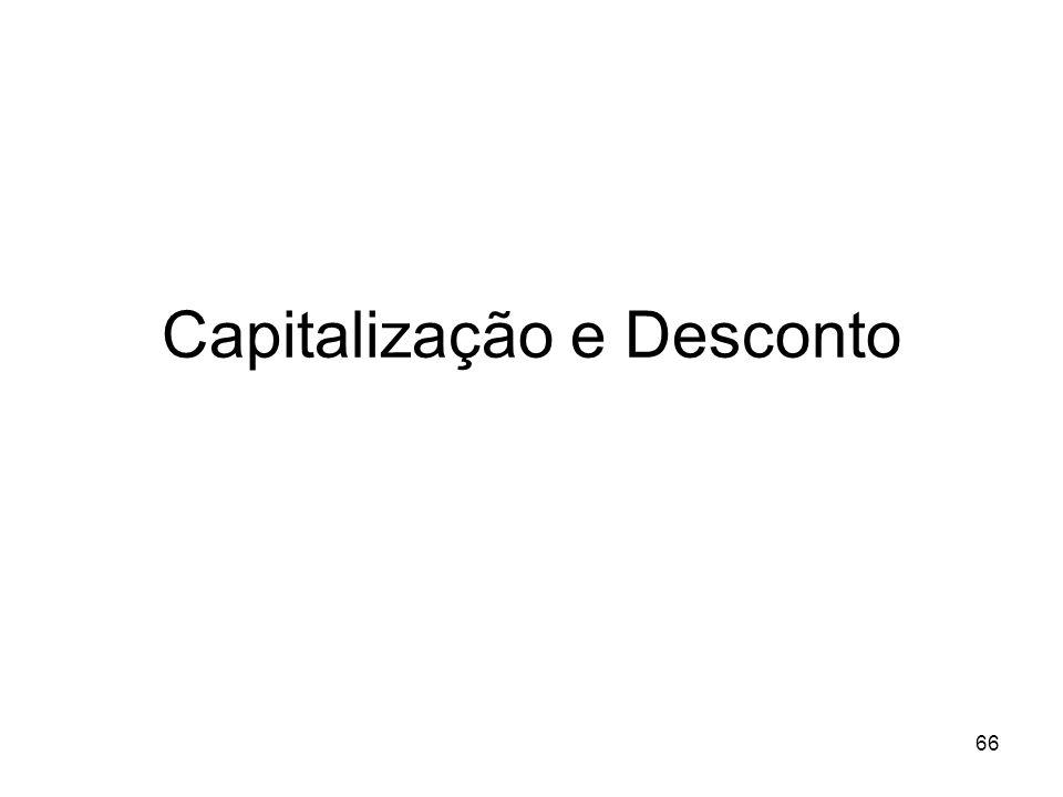 Capitalização e Desconto