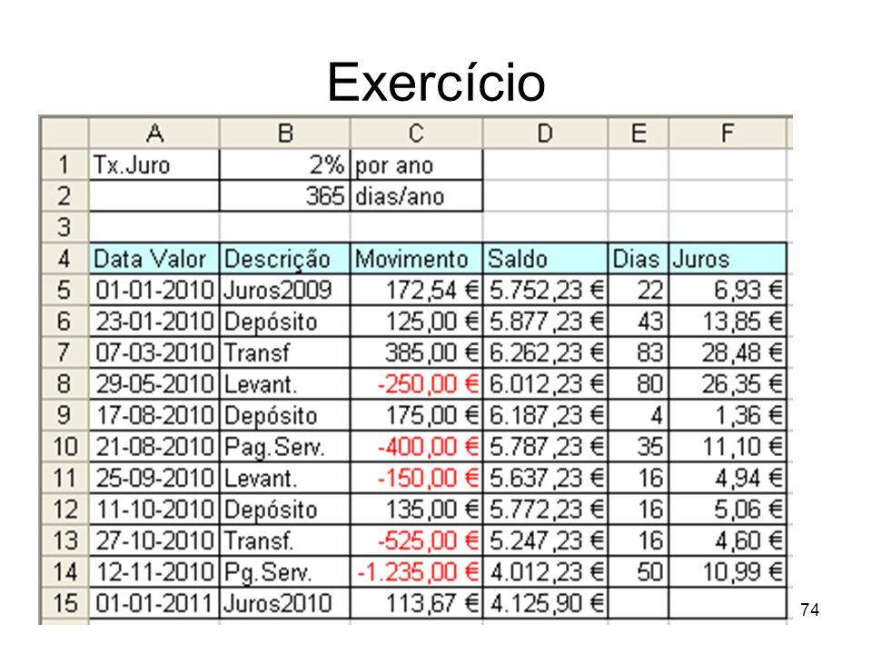 Exercício 74