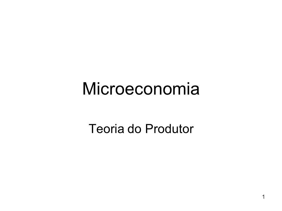 Microeconomia Teoria do Produtor
