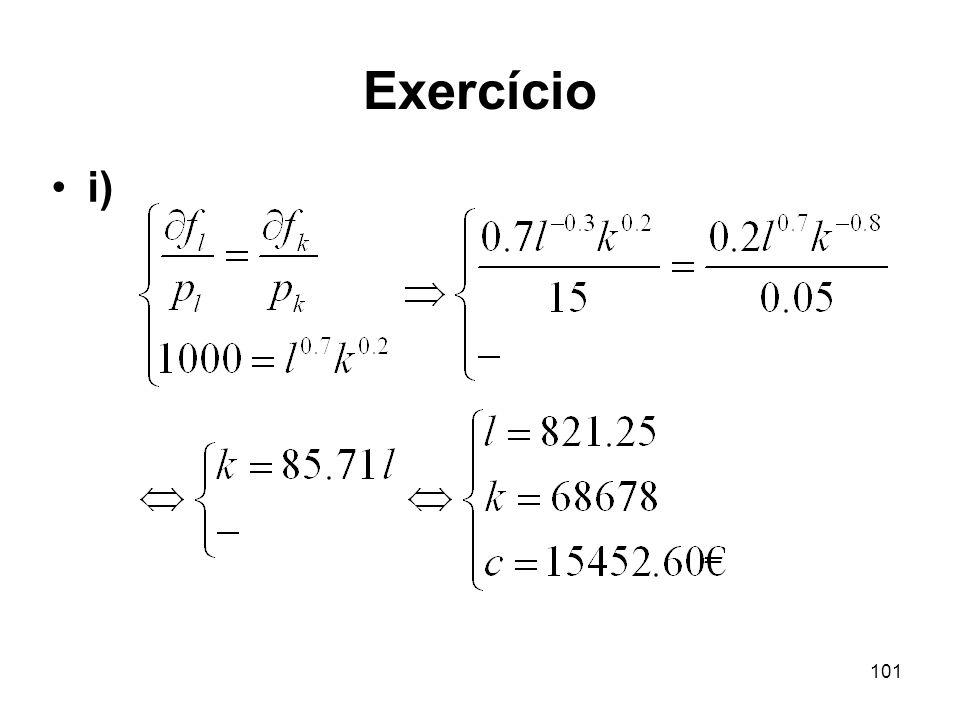 Exercício i)