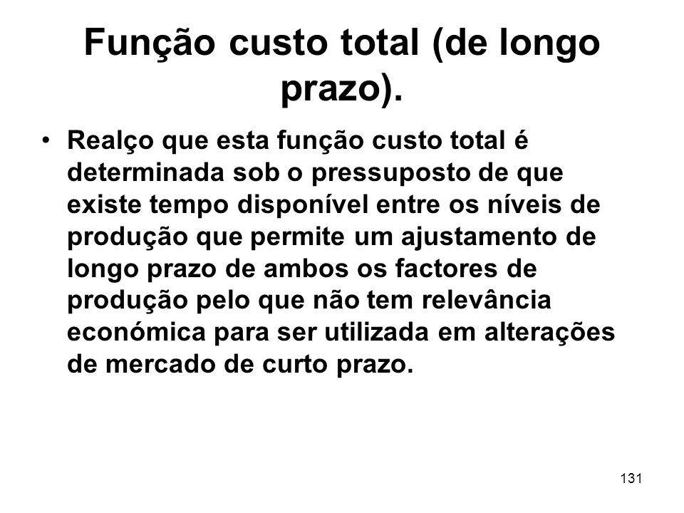 Função custo total (de longo prazo).
