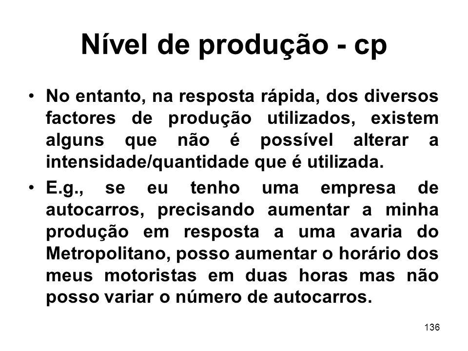 Nível de produção - cp