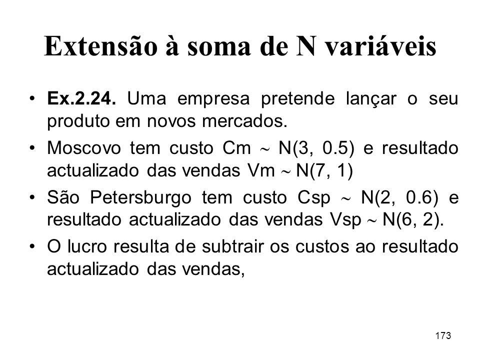 Extensão à soma de N variáveis