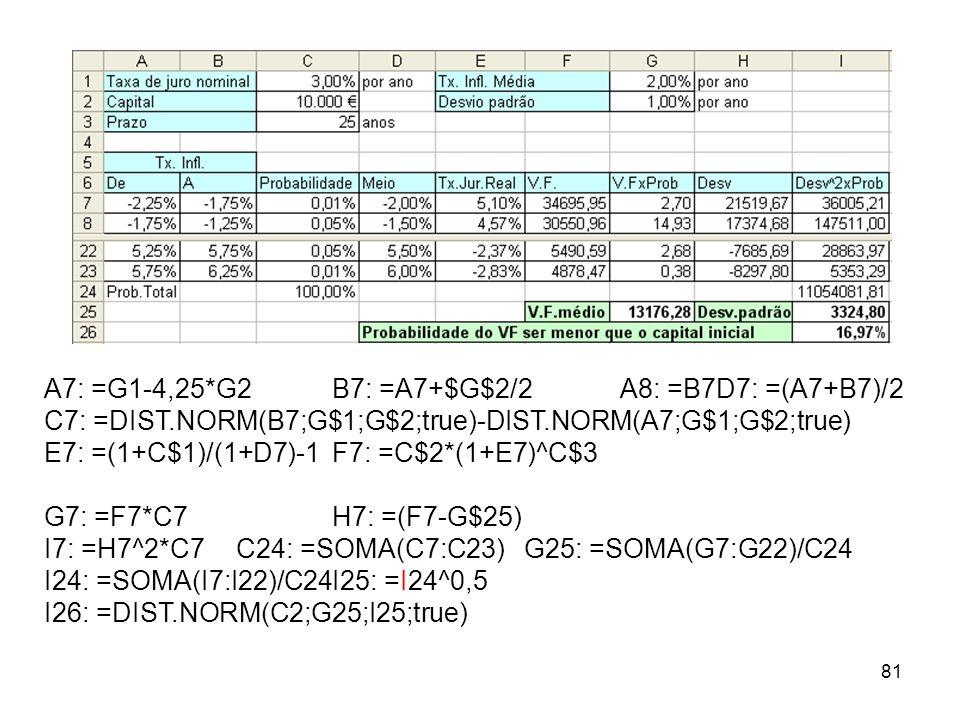 A7: =G1-4,25*G2 B7: =A7+$G$2/2 A8: =B7 D7: =(A7+B7)/2