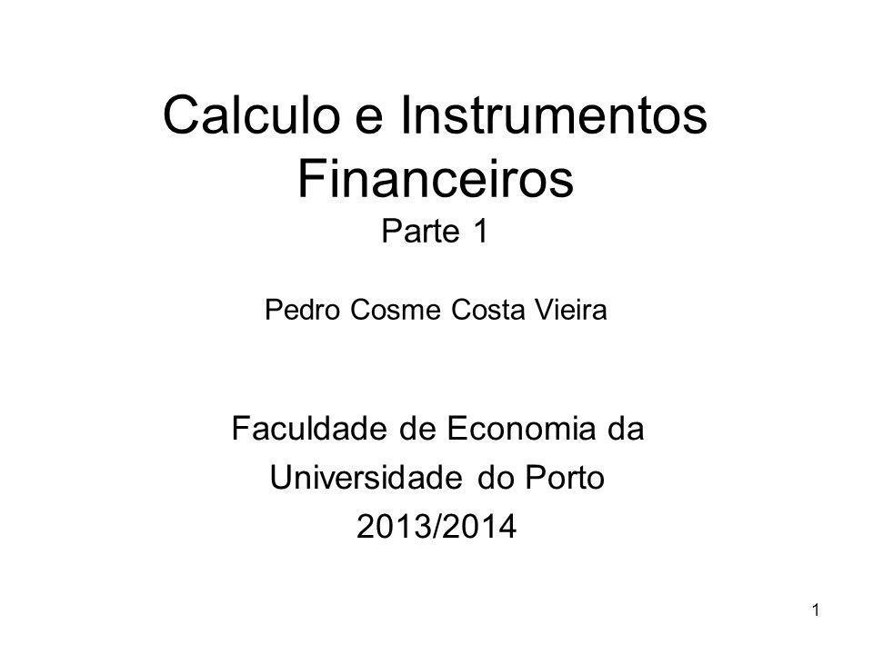 Calculo e Instrumentos Financeiros Parte 1 Pedro Cosme Costa Vieira