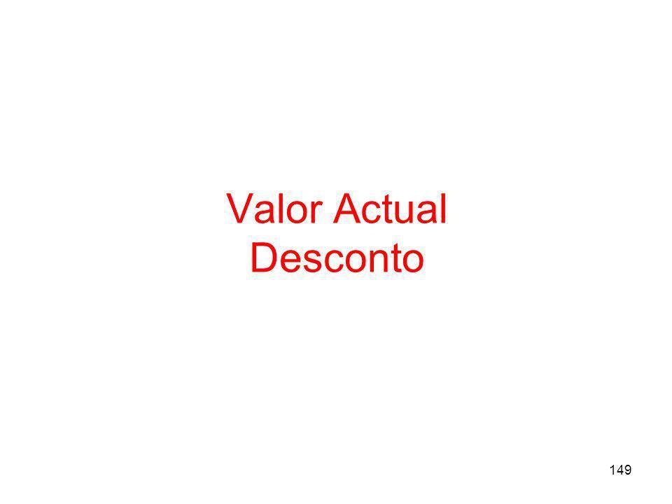 Valor Actual Desconto