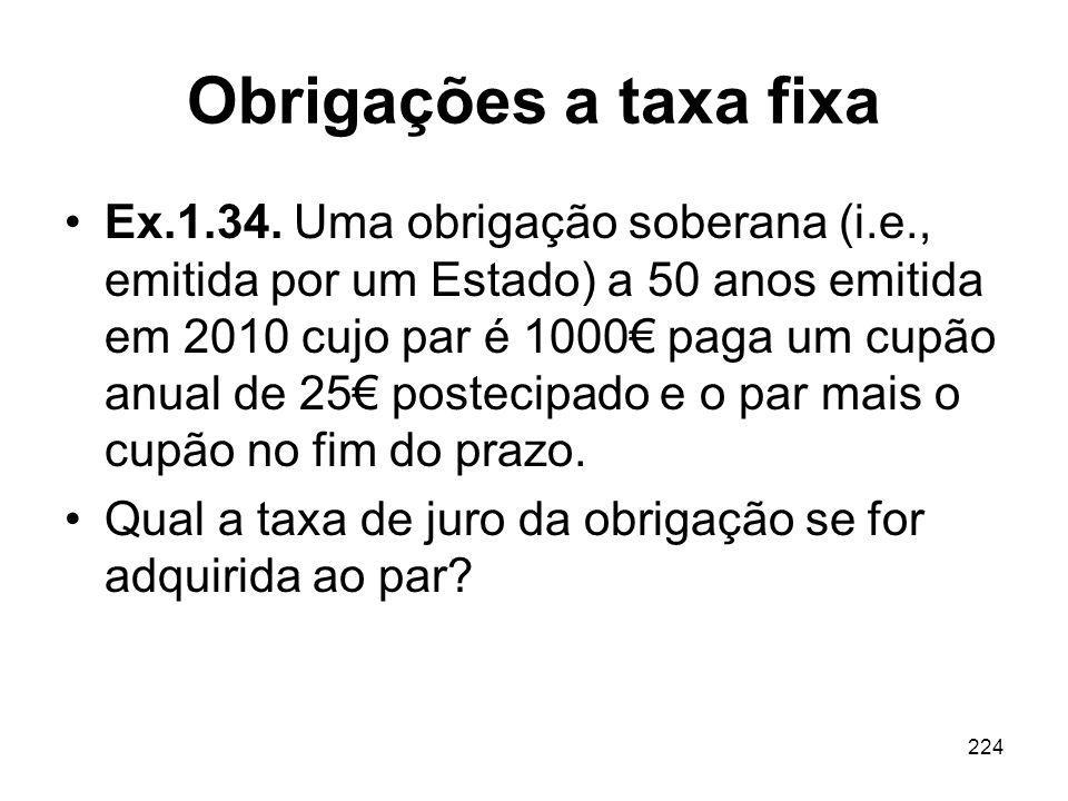 Obrigações a taxa fixa