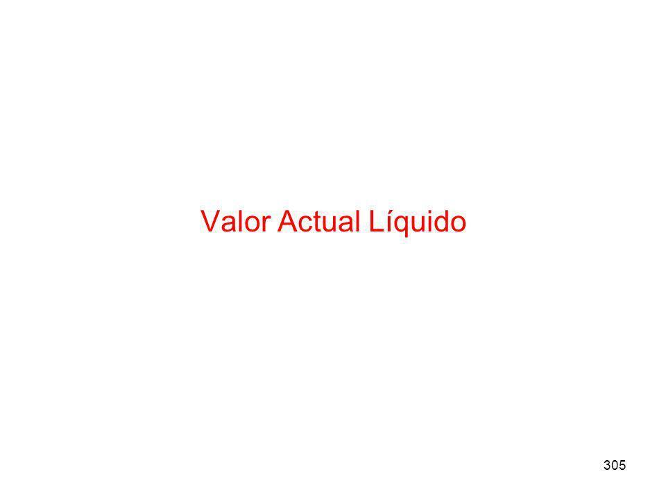 Valor Actual Líquido