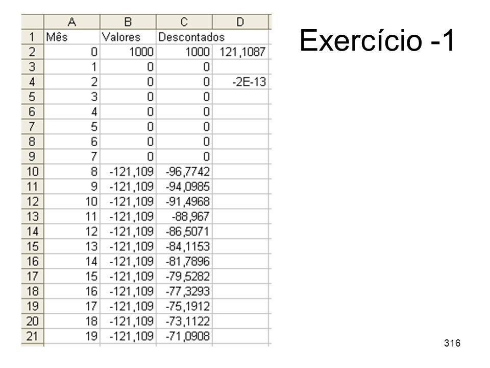 Exercício -1
