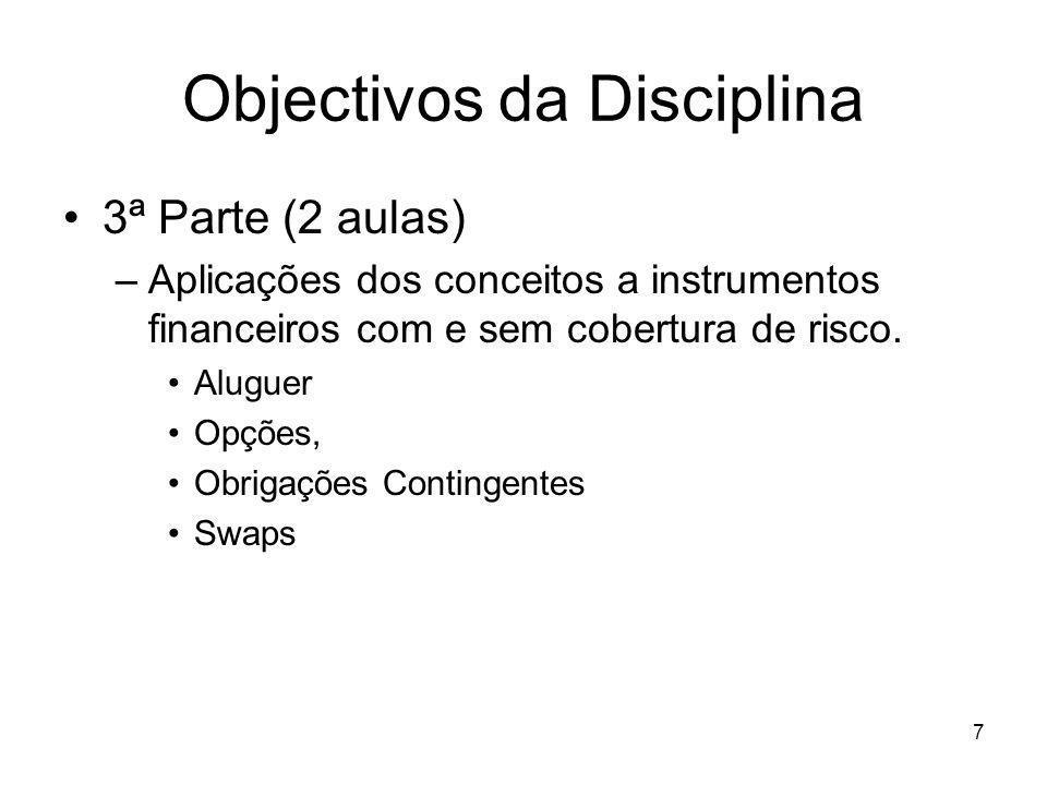 Objectivos da Disciplina