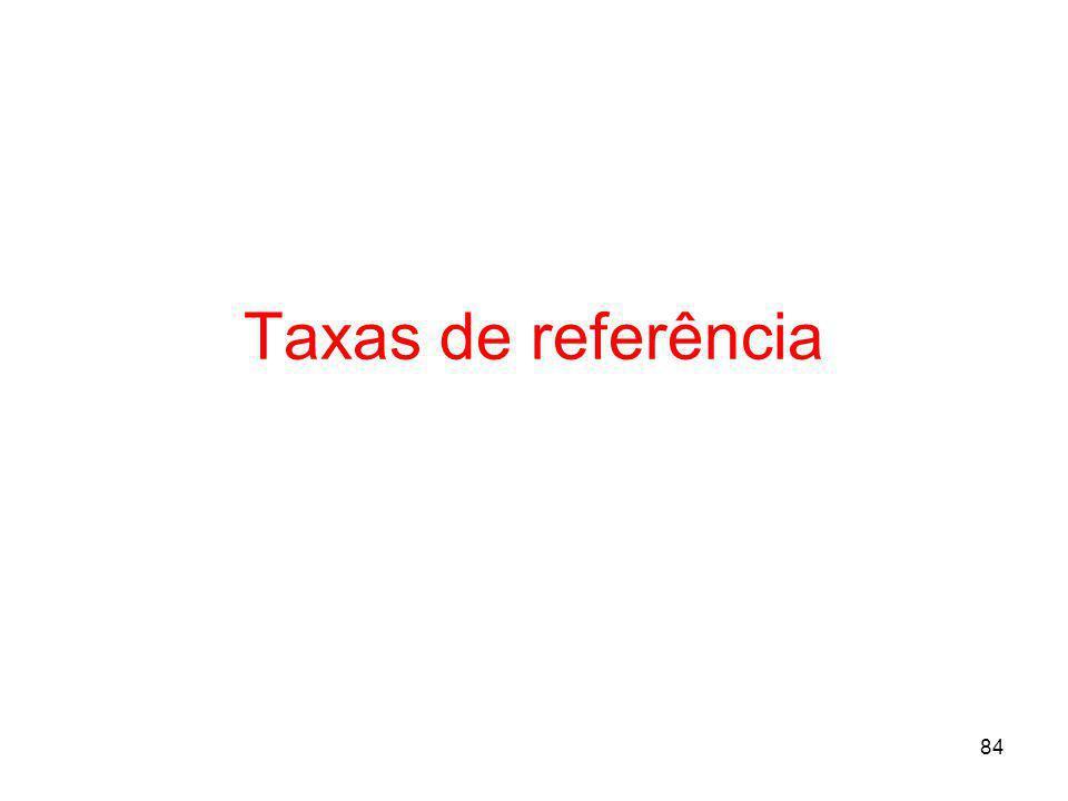 Taxas de referência