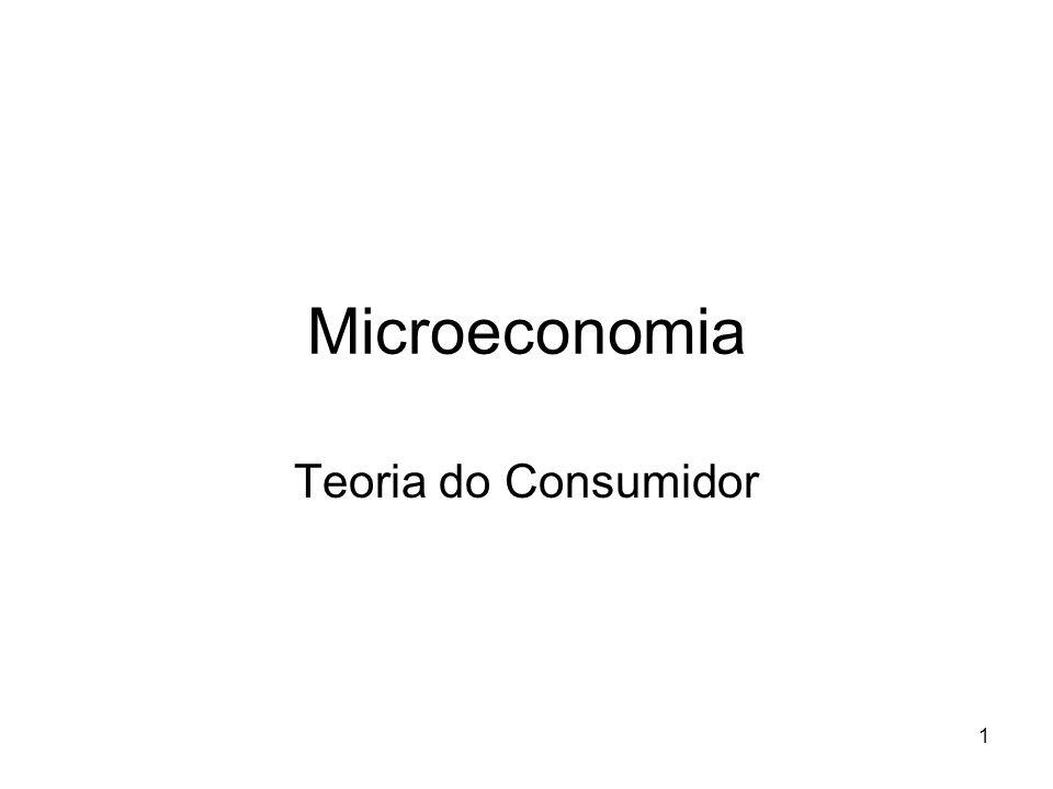 Microeconomia Teoria do Consumidor