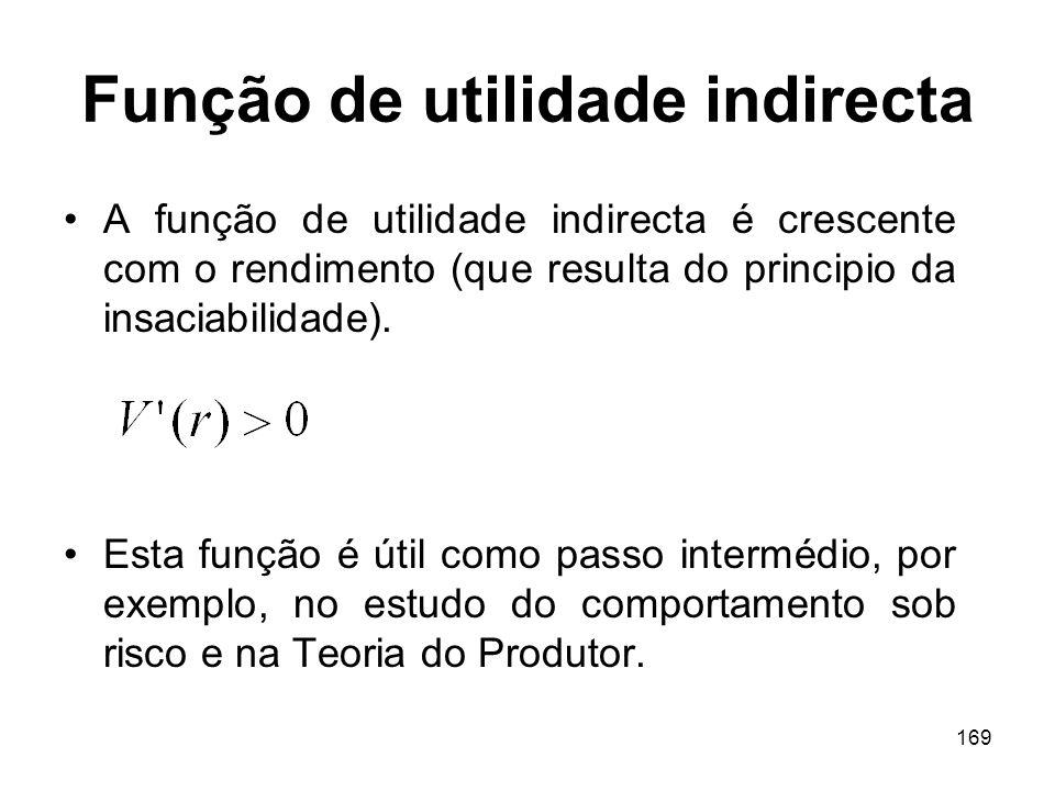 Função de utilidade indirecta
