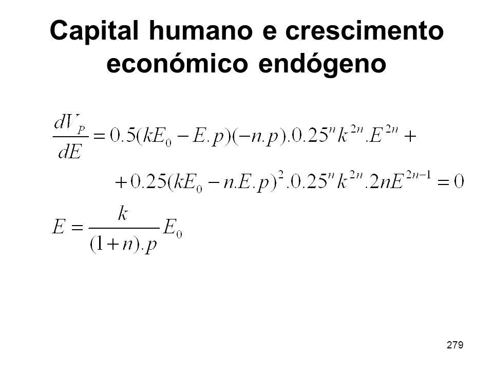 Capital humano e crescimento económico endógeno