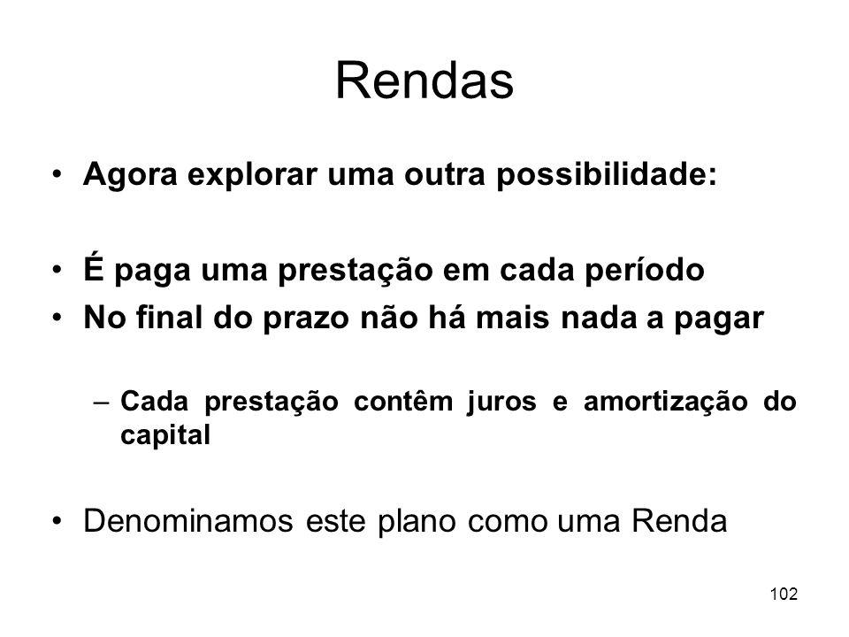 Rendas Agora explorar uma outra possibilidade:
