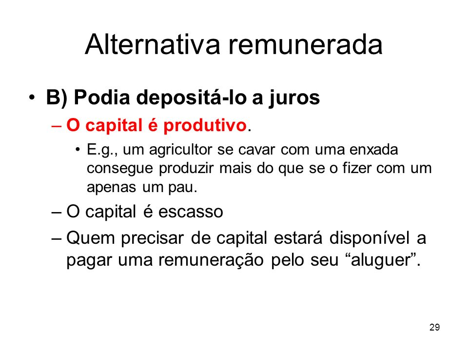 Alternativa remunerada