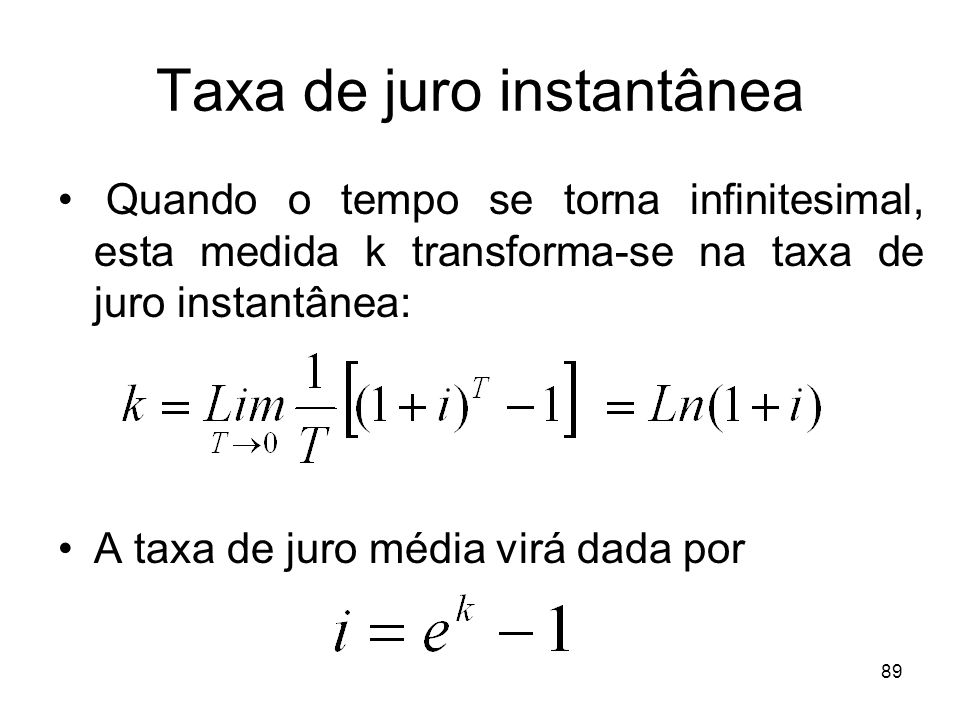 Taxa de juro instantânea