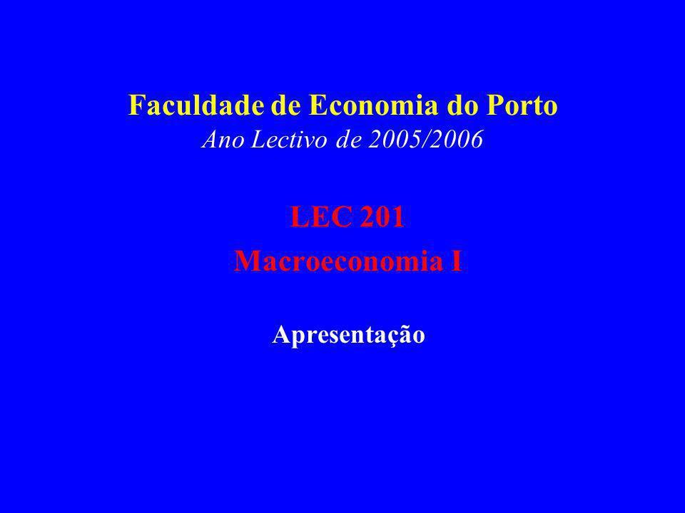 Faculdade de Economia do Porto Ano Lectivo de 2005/2006