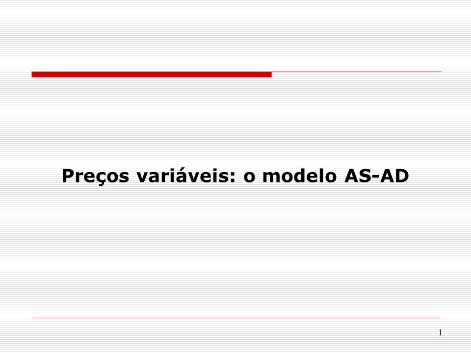 Preços variáveis: o modelo AS-AD