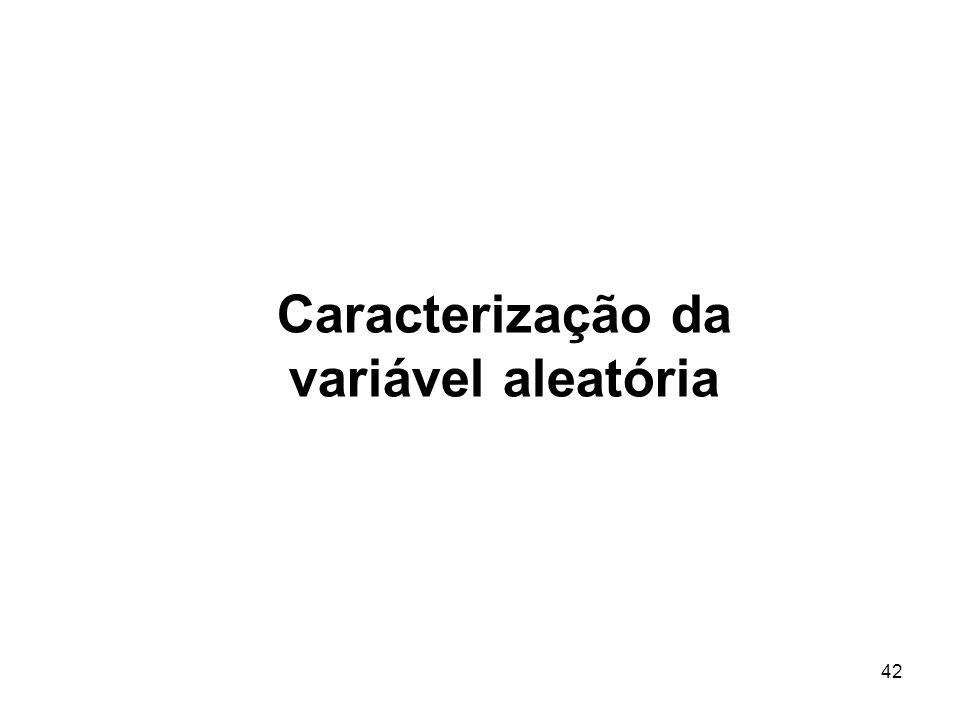 Caracterização da variável aleatória