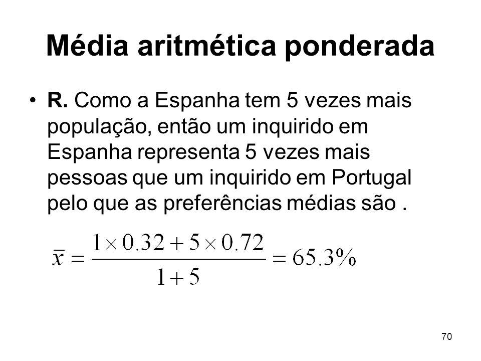 Média aritmética ponderada