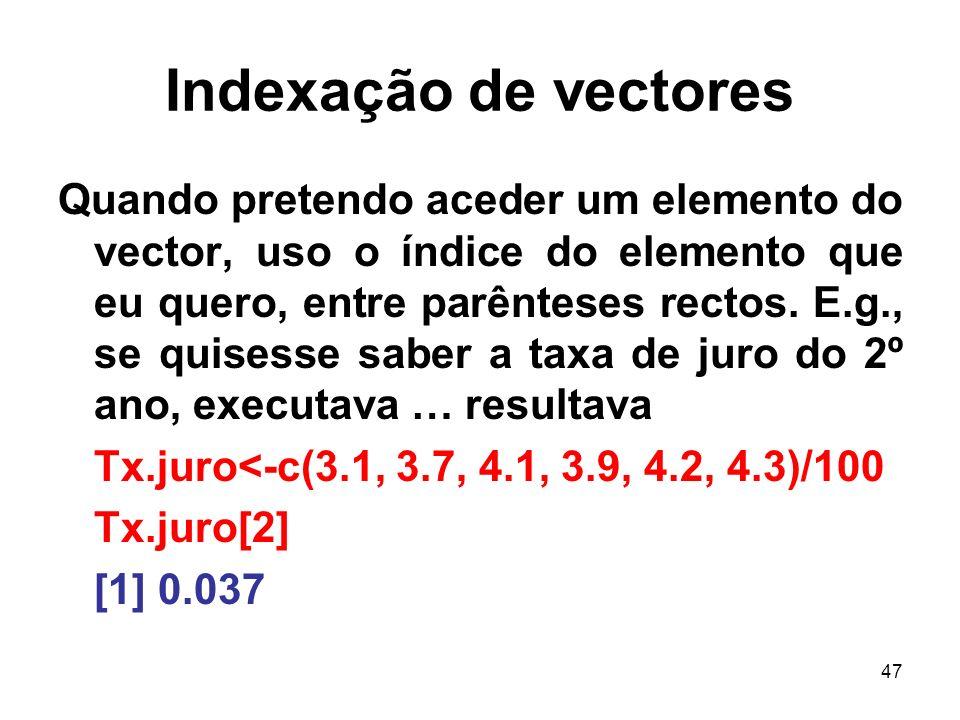 Indexação de vectores