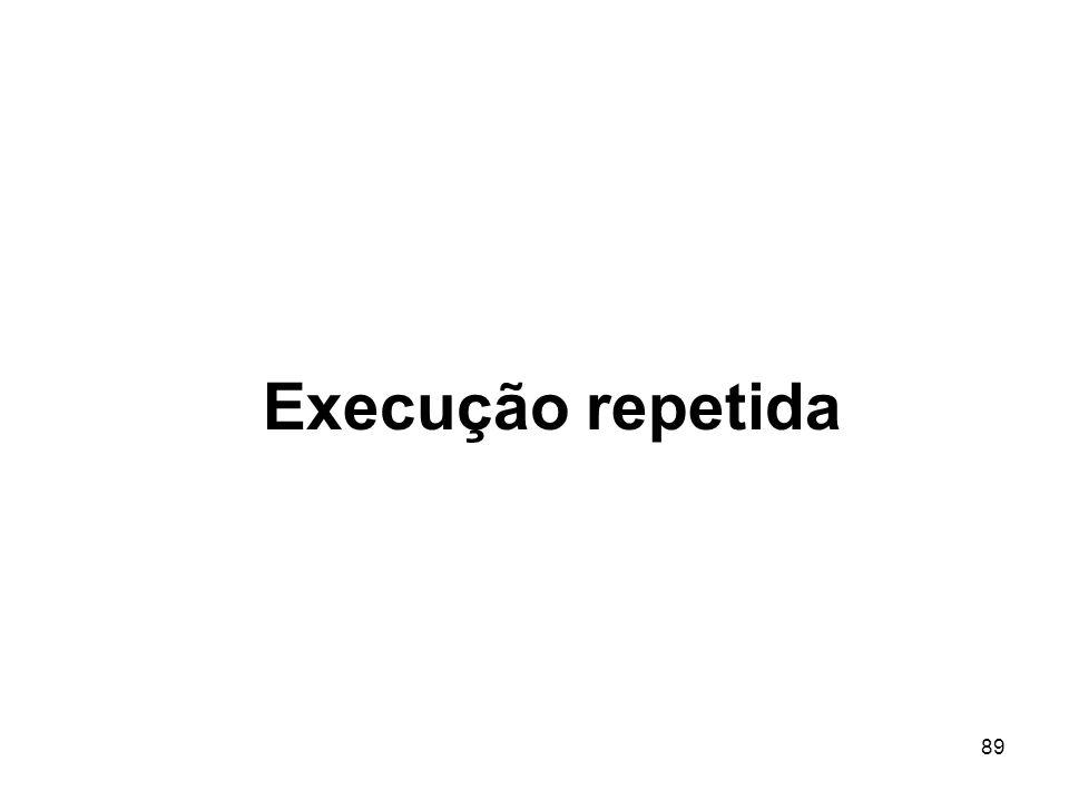 Execução repetida