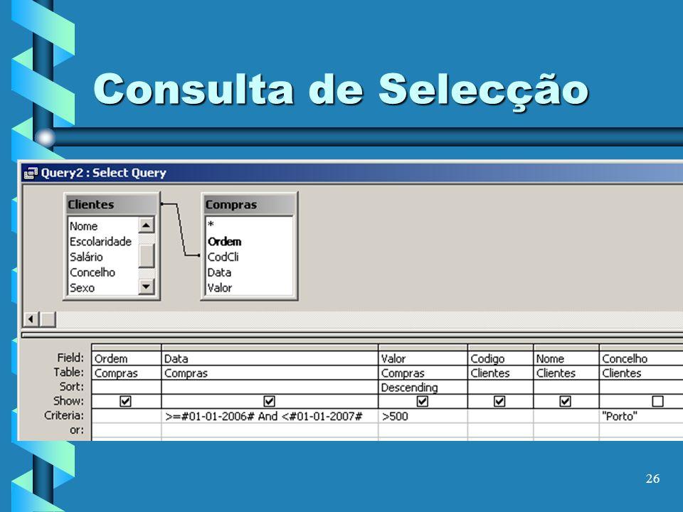 Consulta de Selecção
