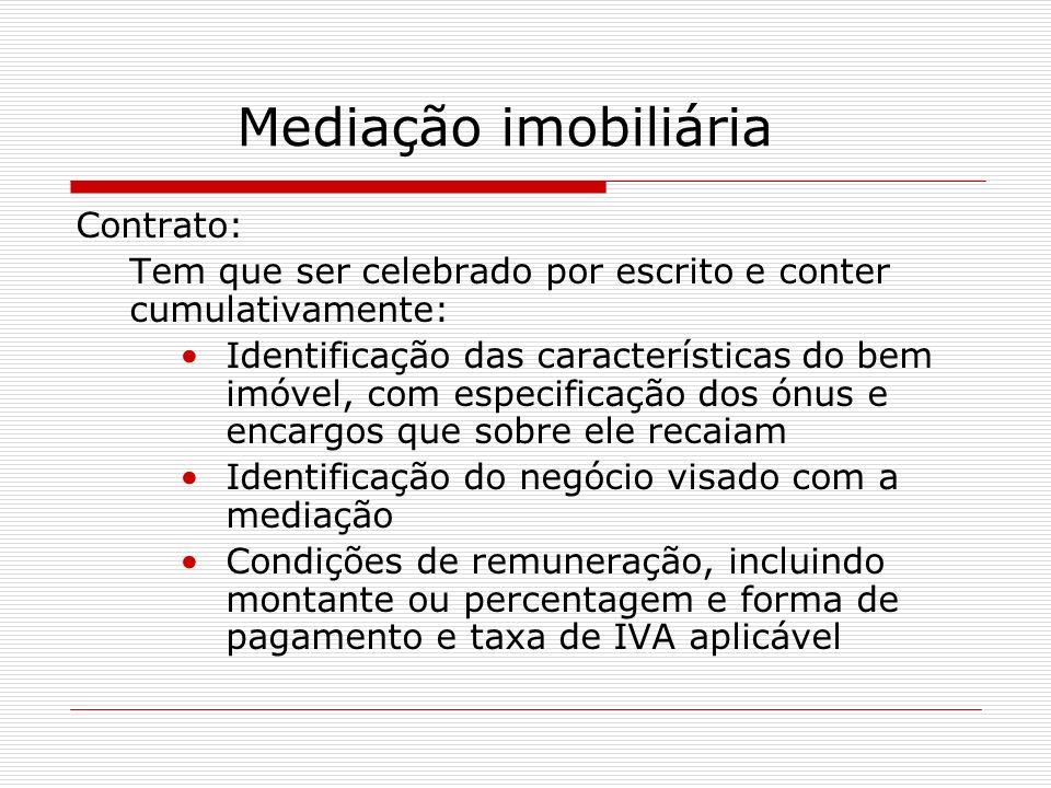 Mediação imobiliária Contrato: