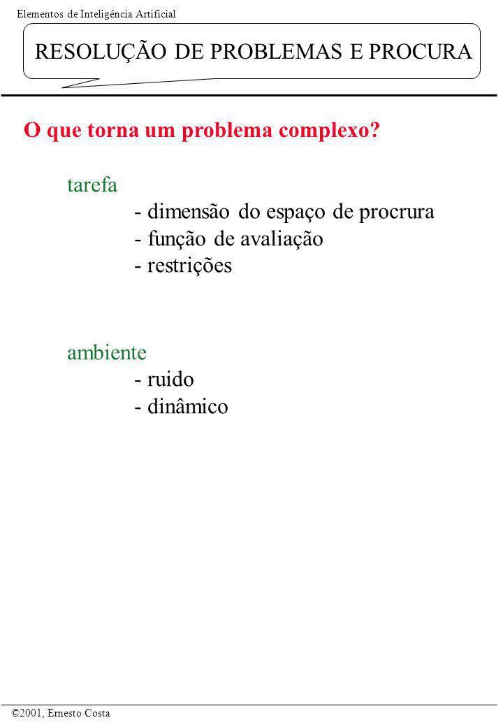 O que torna um problema complexo