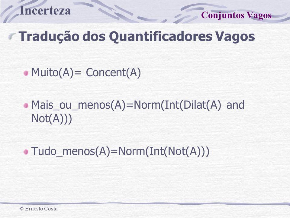 Tradução dos Quantificadores Vagos