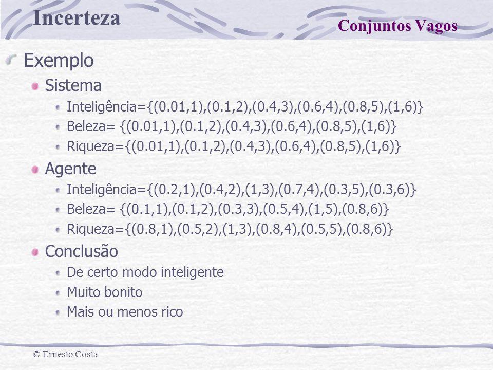 Exemplo Conjuntos Vagos Sistema Agente Conclusão