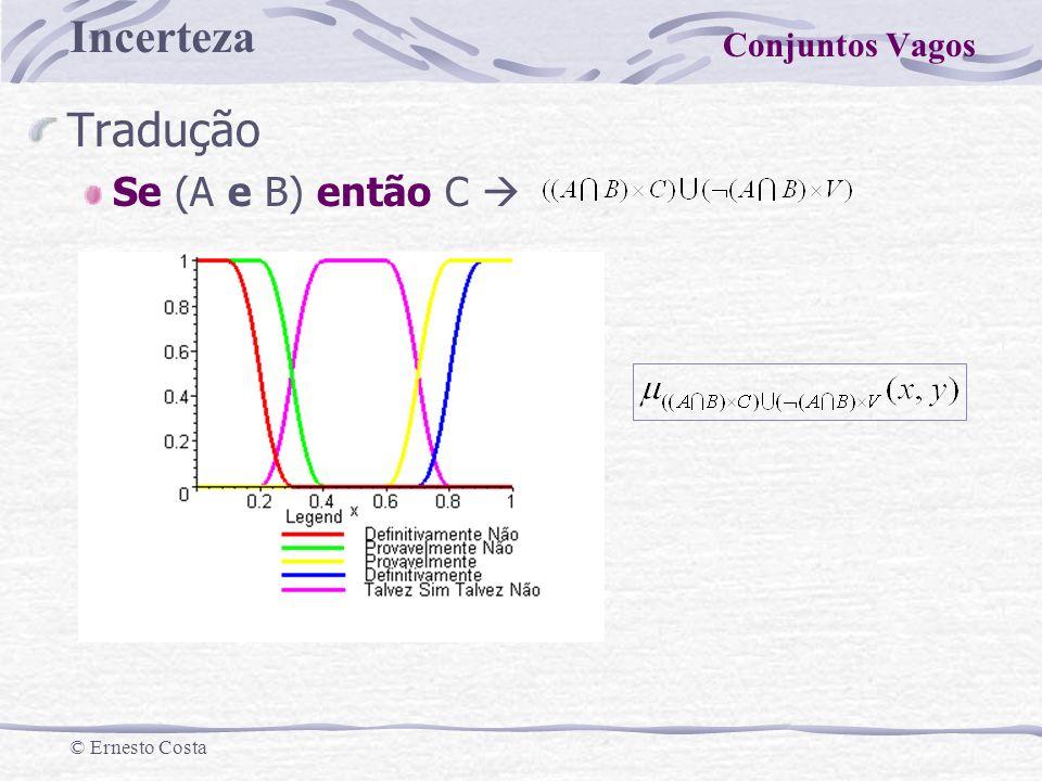 Conjuntos Vagos Tradução Se (A e B) então C 