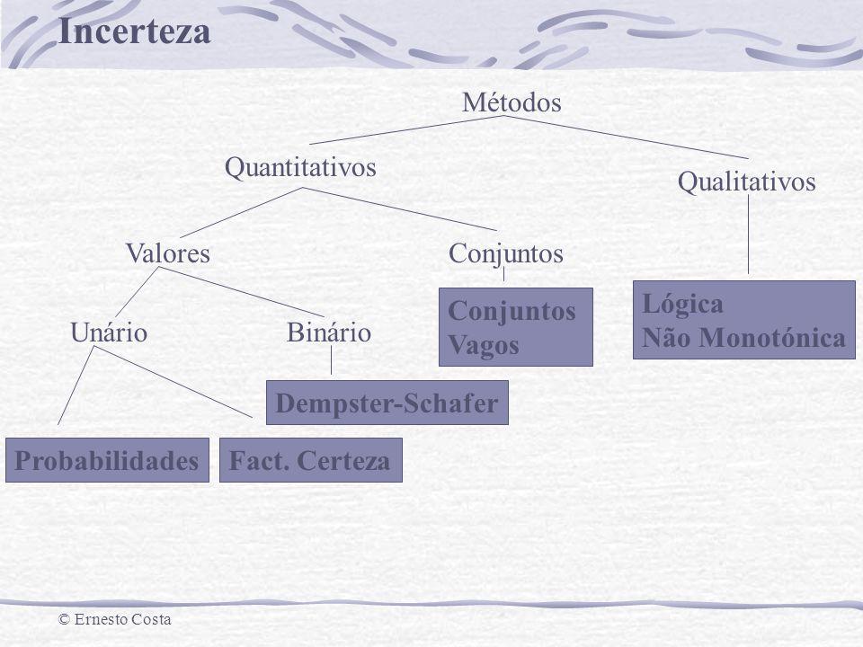 Métodos Quantitativos. Qualitativos. Valores. Conjuntos. Lógica. Não Monotónica. Unário. Binário.