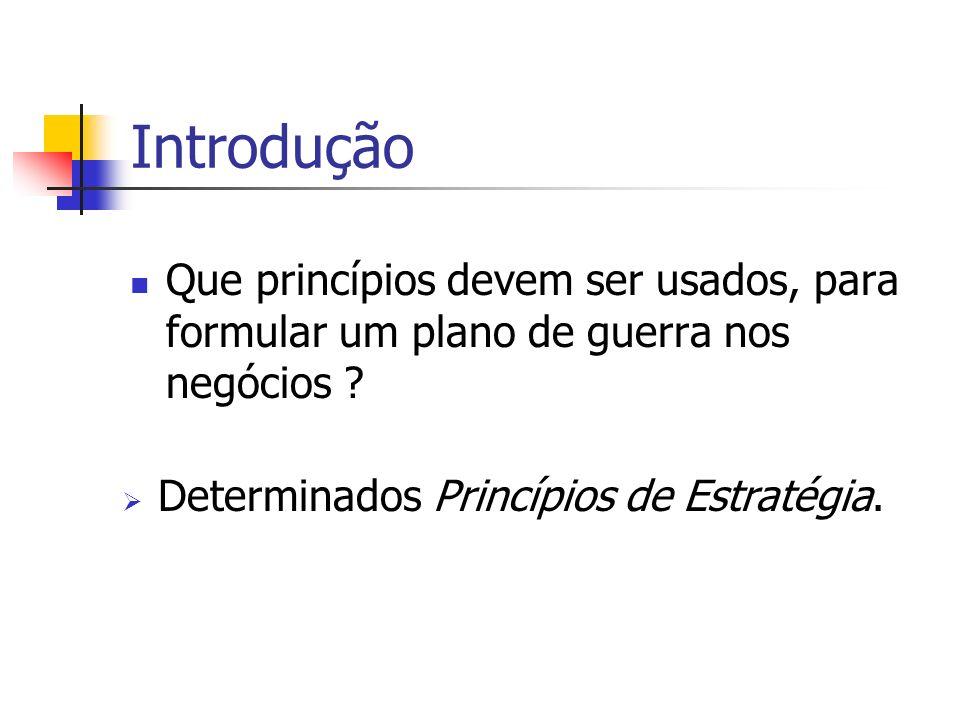 Introdução Que princípios devem ser usados, para formular um plano de guerra nos negócios .