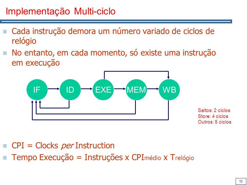 Implementação Multi-ciclo