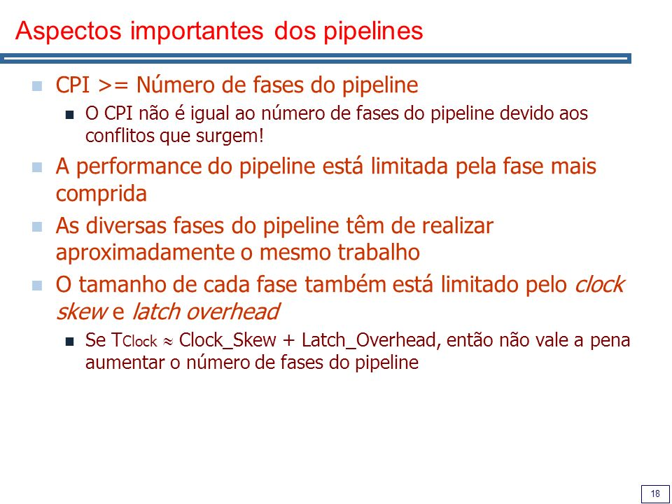 Aspectos importantes dos pipelines