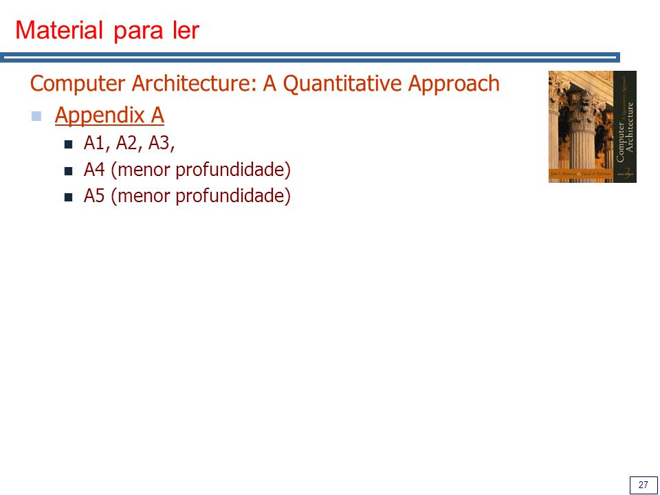 Material para ler Computer Architecture: A Quantitative Approach