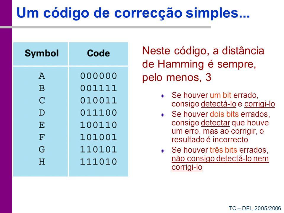 Um código de correcção simples...